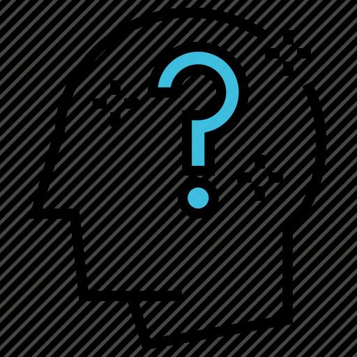 business, faq, help, idea, marketing, question, seo icon