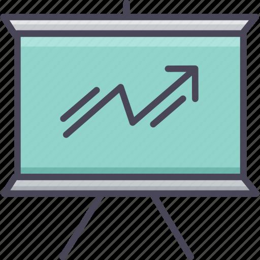 analysis, chart, graph, growth, line, presentation, progress icon