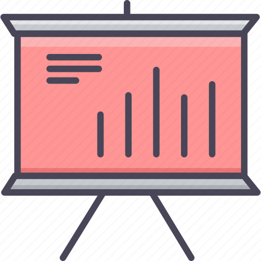 analytics, board, business, graph, presentation, report, statistics icon