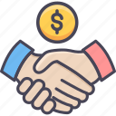 agreement, bank, deal, finance, handshake, money, shakehand icon