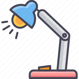 bulb, electric, energy, lamp, light, power, study table icon
