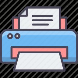 document, machine, page, paper, print, printer, printing icon