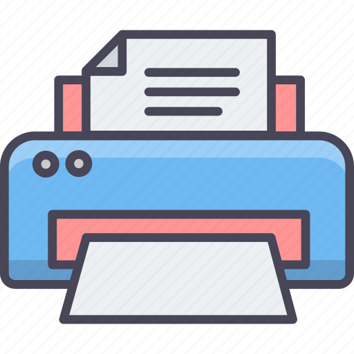 document, machine, page, paper, print, printer, printing icon