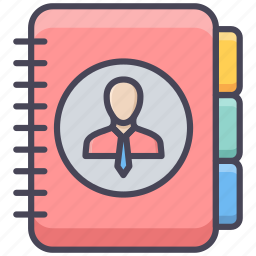 book, communication, contact, diary, phone, telephone icon