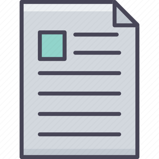 document, format, note, page, paper, sheet, text icon