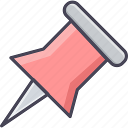 attach, attachment, pin, point, pointer icon