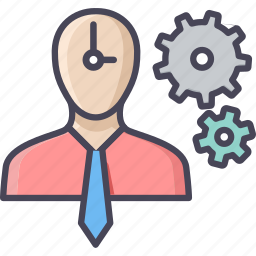 change, clock, human, process, schedule, setting, time icon
