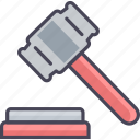court, hammer, law, legal, balance, judge, justice icon