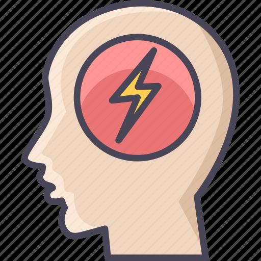 brainstorming, brainwash, business, light, mind, minded, thinking icon