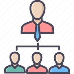 business, group, leader, office, people, structure, team icon