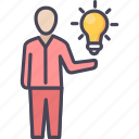 bulb, business, creative, idea, innovative, plan, project icon