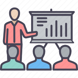 business, finance, marketing, presentation, report, review, seo icon
