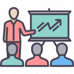 business, chart, conference, group, meet, meeting, presentation icon