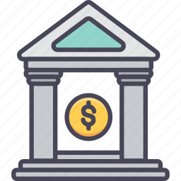 bank, banking, finance, house, services, stock, treasury icon