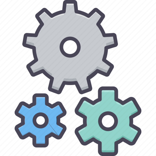 control, gear, process, repair, setting, system, tools icon