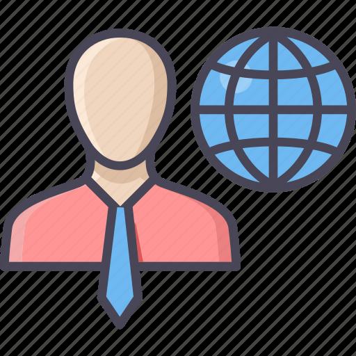 business, employer, global, international, manager, marketing, representative icon