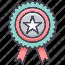 badge, ribbon, star, achievement, bookmark, favorite, medal