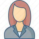 avatar, business, businesswoman, businesswomen, management, manager icon