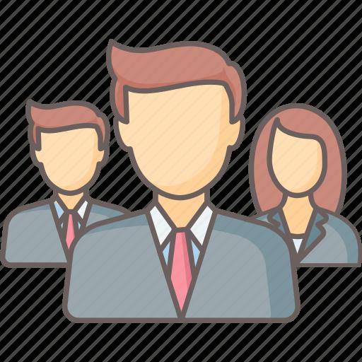 executive, network, team, teamwork icon