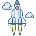 business, launch, rocket icon