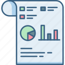 analytics, chart, document, documents, graph, report, statistics icon