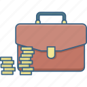 bag, business, coins, currency, finance, money, payment icon