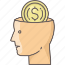 brain, business, finance, idea, marketing, money icon