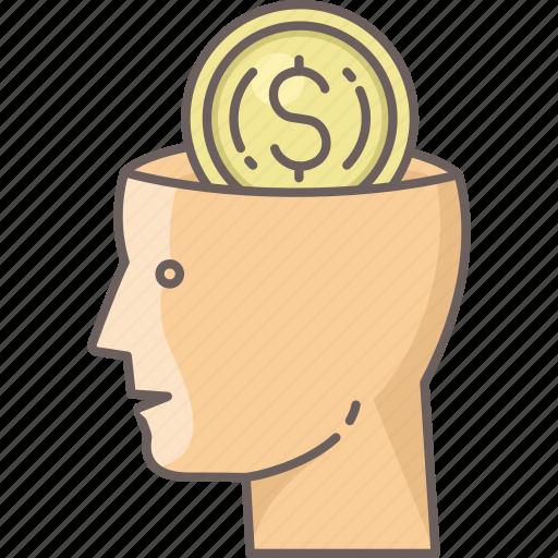brain, business, finance, idea, marketing, money icon