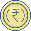 cash, coin, currency, money, rupee icon