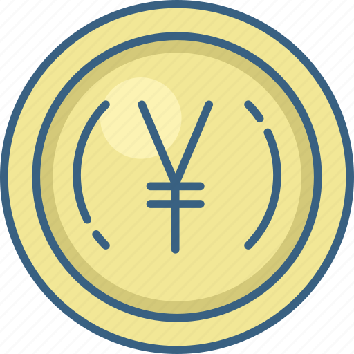 Coin, yen, currency, money icon - Download on Iconfinder