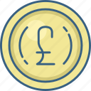 banking, cash, coin, currency, euro, money icon