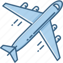 airplane, plane, transport, transportation, travel, vacation icon