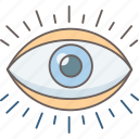 engine, eye, search, view, vision icon