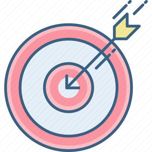 aim, arrow, mission, target icon
