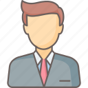 avatar, businessman, man, profile, user icon