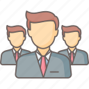 businessman, businessmen, management, team, users icon