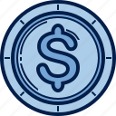 business, capital, cash, coin, dollar, finance, money icon