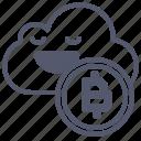 bitcoin, cloud, crypto, safe, save, upload