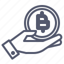 bitcoin, care, crypto, holding, investor, protect, safe icon