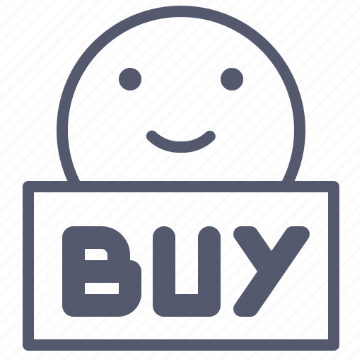 buy, download, face, purchase, save, smile icon