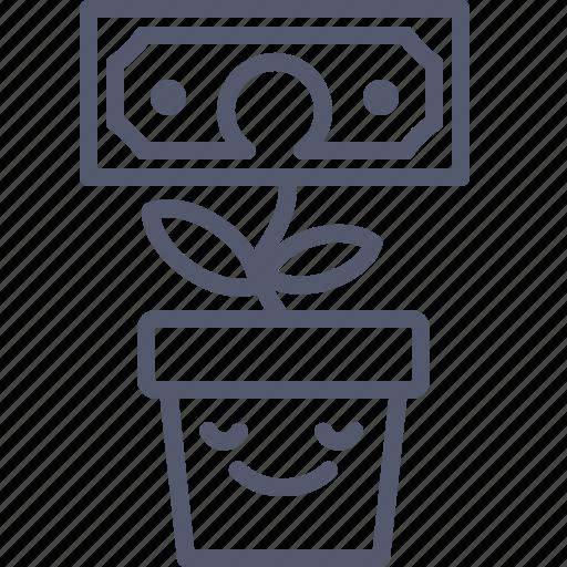 Dollar, flower, investor, plant icon - Download on Iconfinder