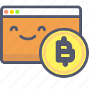 bitcoin, browse, browser, crypto, market, stats, stock icon