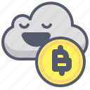 bitcoin, cloud, crypto, safe, save, upload icon