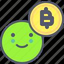 bitcoin, coin, crypto, face, happy, smile
