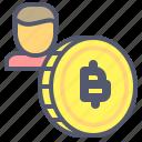account, bitcoin, coin, crypto, digital, market icon