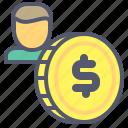 account, coin, dollar, economy, money, savings