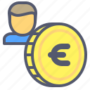account, coin, economy, euro, money, savings