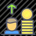 coin, investor, safety, savings, upload, vault