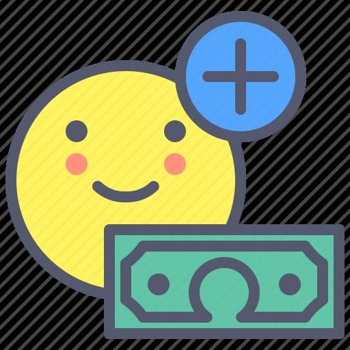 Add, dollar, grow, money, sum, target, wealth icon - Download on Iconfinder
