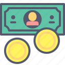 coins, dollar, grow, money, sum, target, wealth icon